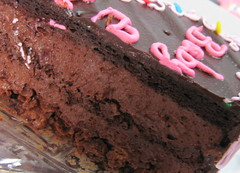 My 21st Birthday! (raspberrii) Tags: birthday pink cake singapore chocolate cream valrhona feuilletine hazelnut frosting