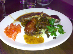 Roasted rack of lamb at Cruz, Leith, Edinburgh