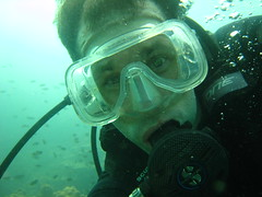 Underwater self-photo