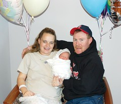 Proud parents Shane and Crystal Otley of Crane show off their baby girl, Jacee Dawn Otley, who was born on Jan. 6 at Harney District Hospital. Photo by RANDY PARKS