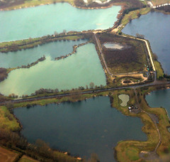 Pools (Andrew Hounslea) Tags: water pits nikon aerial aerialphoto nikkor quarry oxfordshire vr dx 18200vr d80 afsdxvrzoomnikkor18200mmf35~56gifed andrewhounslea