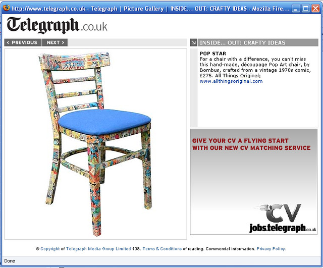 Telegraph property section online 24th jan 08 by Bombus Design