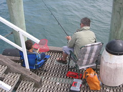 Fishing off Cowes Pier