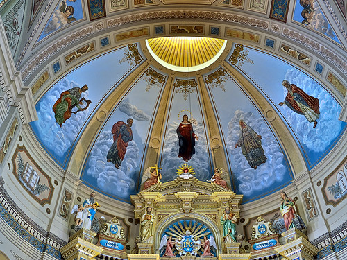 Saint Joseph Shrine, in Saint Louis, Missouri, USA - painting over apse
