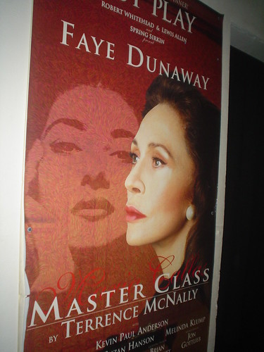 Faye Dunaway in Masterclass  backstage at Parker Playhouse, Ft Lauderdale, Florida