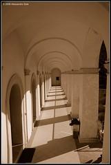(Alessandro Sole) Tags: light shadow sepia nikon d70 columns perspective corridor ombre sole colonne alessandro prospettiva seppia corridoio