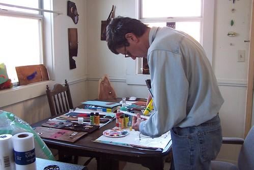 Patrick hard at work...or play.
