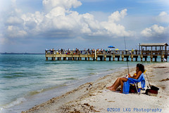 Greetings from Florida! (www.LKGPhoto.com) Tags: ocean girls sea people beach water pier fishing warm florida stock sunny sanibel 5for2 anawesomeshot wwwlkgphotocom