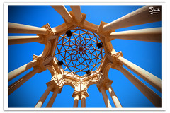 Under the Dome (Hussain Shah.) Tags: blue sky art d50 nikon under arc sigma dome kuwait 1020mm islamic kuwaiti salmiya shah hussain polorizer muwali