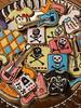 Punk Rock Cookies (nikkicookiebaker) Tags: music skulls guitars tshirts converseshoes decoratedcookies