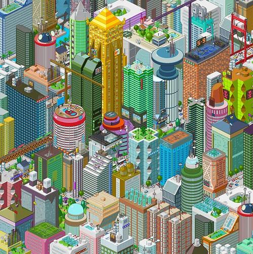 3615 mavie: Les pubs ANPE en pixel art