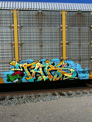 TARS (TRUE 2 DEATH) Tags: california railroad streetart art train graffiti la losangeles character tag graf cartoon lizard railcar spraypaint boxcar railways railfan freight tars autorack vaughnbode autocarrier spraypaintcan benching views633 railroadrollingstock 03252008133450