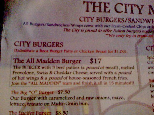 The City, All Madden Burger, Portland, Oregon