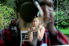 Crouching Clarinet, Sneaking Camera (nosha) Tags: music reflection girl nikon bass nj surprise clarinet rickenbacker 171 d300 18200mm cqw nosha noshalikes