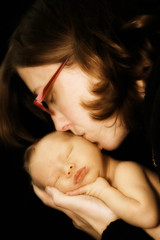 My Love (Ule (Photography By)) Tags: baby mom infant kiss mommy newborn ule