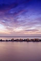 10 Seconds (Khaled A.K) Tags: longexposure sea seascape clouds photography rocks purple jeddah saudiarabia khaled waterscape ksa خالد السعودية العربية jiddah جدة المملكة سعودية mywinners السعوديه جده platinumphoto mosscolorfilter