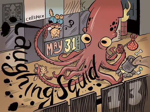 Laughing Squid Lucky 13 Poster