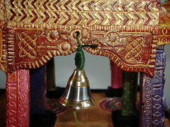 bell (Kavitharani55) Tags: sculpture ceramic temple paint acrylic pottery handbuilt