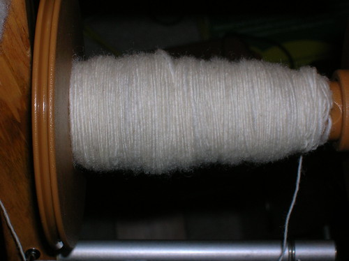 Spinning Rupperts Corriedale Fleece