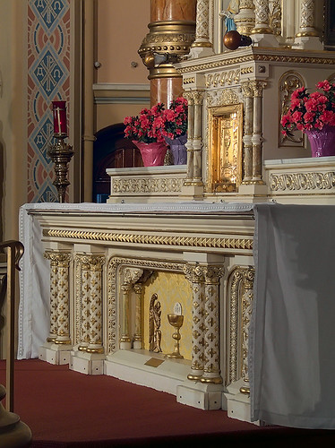 Saint Anthony of Padua Roman Catholic Church, in Saint Louis, Missouri, USA - high altar