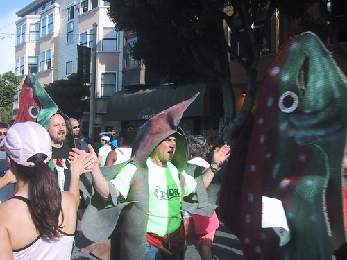 Salmon Swimming Upstream - Bay to Breakers Costumes 2008