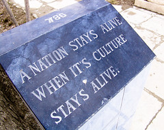 A nation stays alive when its culture stays alive
