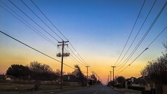 (photo.po) Tags: sunset colors sky perspective telephonewires