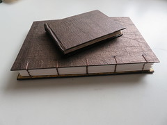 Two completed Sunday am. (Kalmagic !) Tags: book binding hand bound handmde books coptic