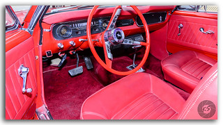 Close up of a 1964 1/2 Classic Vintage Ford Mustang dashboard