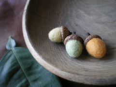 melon (lilfishstudios) Tags: wool recycled handmade craft acorns reclaimed wetfelted lilfishstudios
