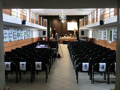 l'auditorium durante le prove