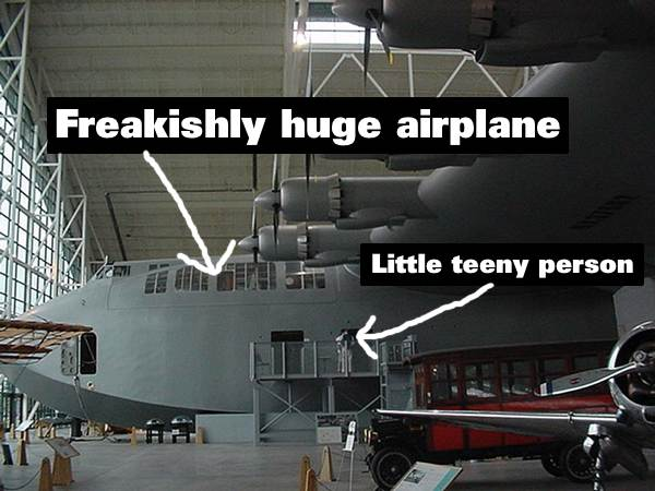 The Spruce Goose. Original photo from Wikipedia.