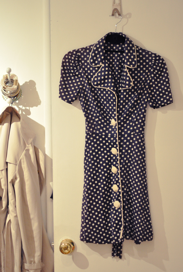 vintage polka dotted dress