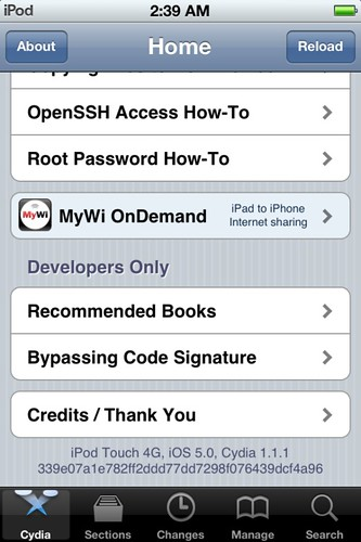 Cydia on iOS 5