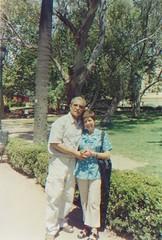Con Ana Rosa en uno de los parques del Gran Buenos Aires, febrero de 2005.
