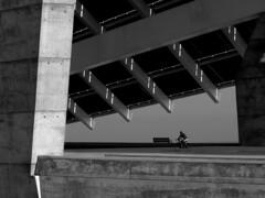Placa Fotovoltaica :: Barcelona (3:14) Tags: barcelona bw bicycle architecture solar energy cyclist placa top20arch blueribbonwinner fotovoltaica goldenphotographer diamondclassphotographer
