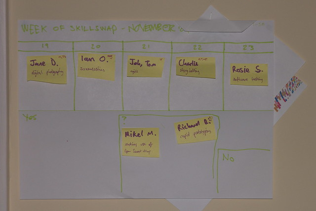 Prelimenary SkillSwap Schedule