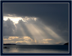 Rays of light (Jom Manilat) Tags: light lake water sweden lappland lapland rays norrbotten 10faves storavan