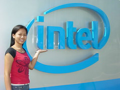 A pose with Intel Logo
