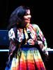 Caught Smiling! (La Vida Segun Seba) Tags: chile santiago musician smile smiling concert live concierto tribal colores björk sonrisa diva multicolor volta santiagodechile powershots3is peruviandress voltatour bjorkchile bjorkenchile