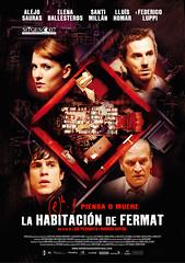 Poster La habitación de Fermat Alejo Sauras Elena Ballesteros Santi Millán