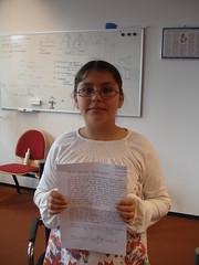 Dilan uit Bloemhof met haar brief