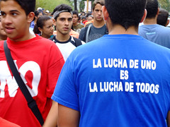 La lucha de uno.... (ervega) Tags: india college students march university no venezuela protest caracas protesta universidad constitution reforma catolica andres lucha todos ucab constitucion montalban marcha reform bello estudiantes studentmovement movimientoestudiantil movimientoestudiantilvenezolano venezuelanstudentmovement