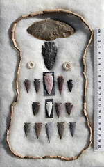 Artifacts - Powder River - front (WY Man) Tags: archaeology nativeamerican points burial arrowheads artifacts projectile leath