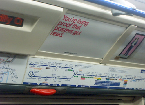 Tube Posters get read