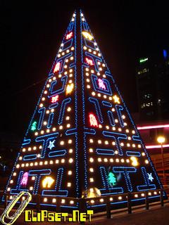 Pac-man Xmas tree en Madrid