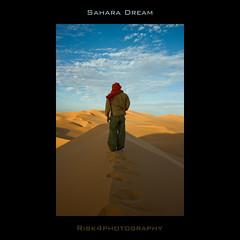 sahara dream... (loricaman78) Tags: blue red fab sky sahara yellow sand desert dune dream deserto libia akakus libic