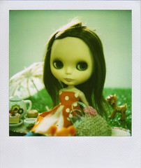 Picnic at the park (yenkyen) Tags: film polaroid sx70 picnic fate 600 blythe teaparty withoutndfilter