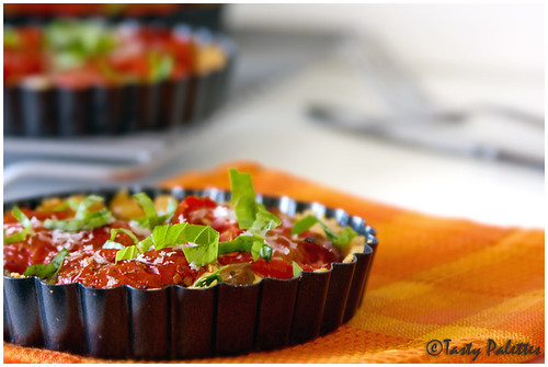 Cornmeal Crusted Tomato Tarts