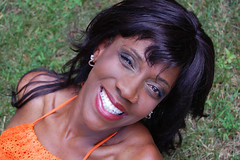 Doris I (dimmuborgirly) Tags: portrait orange woman black smile female glamour shot african american